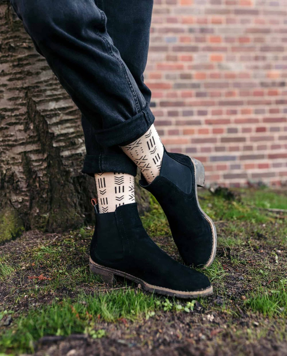 socks inspired by the african mudcloth socks for women