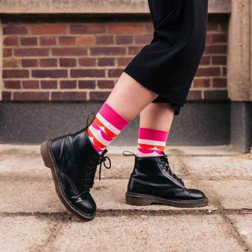 the clelia sock - cool pink socks for women from sisu socks