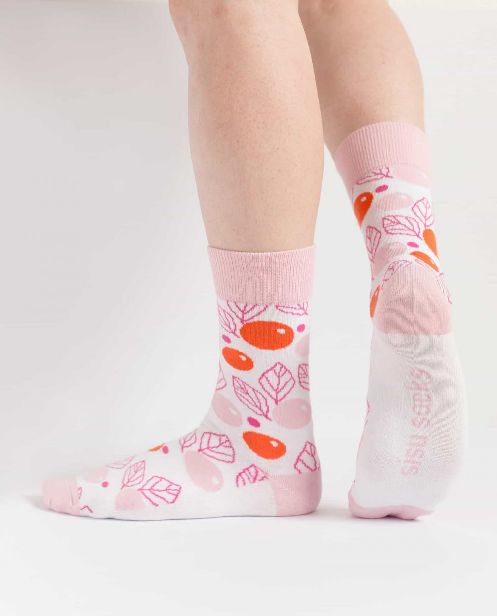 pink floral socks for women from sisu socks