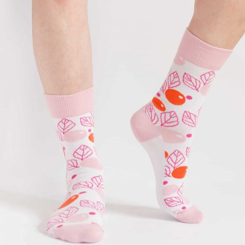 pink floral socks for women