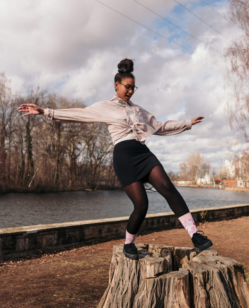 floral socks for women inspired by clelia duel mosher