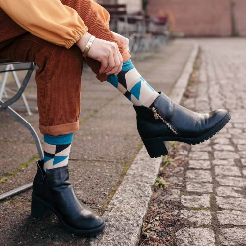 womens socks inspired by the book blues in black and white by may ayim