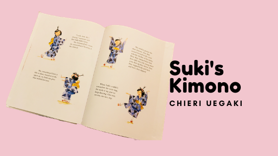 one of the pages in the feminists kids book suki's kimono